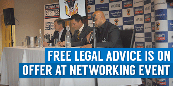 Free Legal Advice Is On Offer At Networking Event