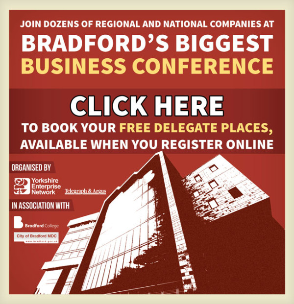 Join dozens of regional and national companies at Bradford's biggest business conference! Click Here to book your free delegate places, available when you register online