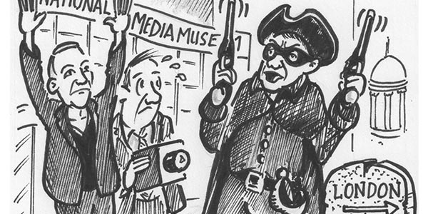 """Weekly Cartoon: """"Stand And Deliver… Your Fox Talbot's Or Your Life!"""""""