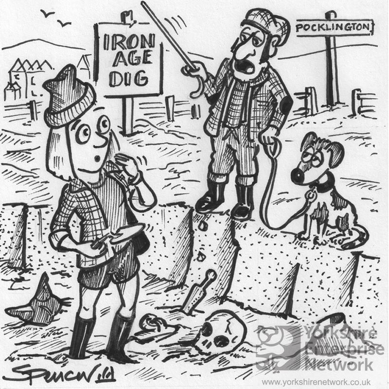 """YEN Cartoon: """"Archeologist? For All I Kno's Tha Could Be One Of Them Theer Frackers!"""""""