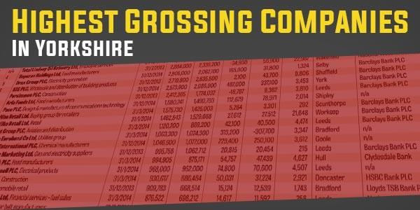 YEN Top 10 - Highest Grossing Companies In Yorkshire