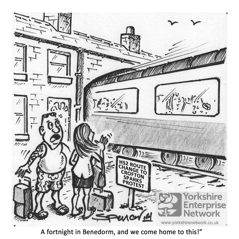 YEN Cartoon: HS2 Route Change To Crofton Sparks Protest