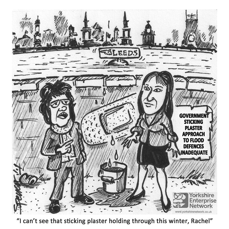 YEN Cartoon: Government Funding For Leeds Flood Defences Deemed Inadequate
