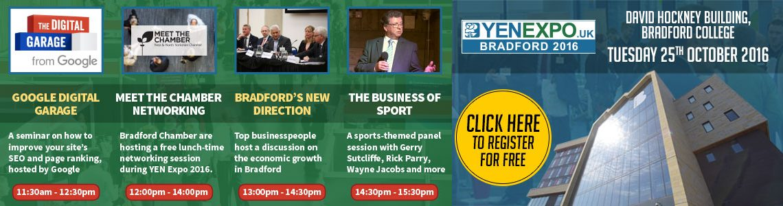YEN Expo 2016 Bradford Business Conference | Tuesday 25th October