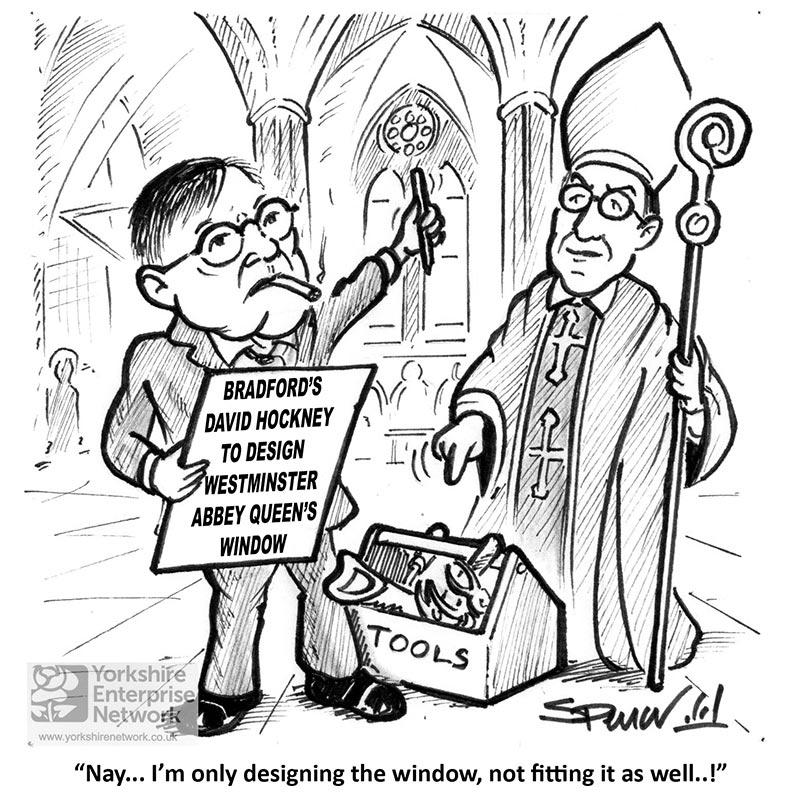YEN Cartoon: Bradford's David Hockney To Design Westminster Abbey Queen's Window