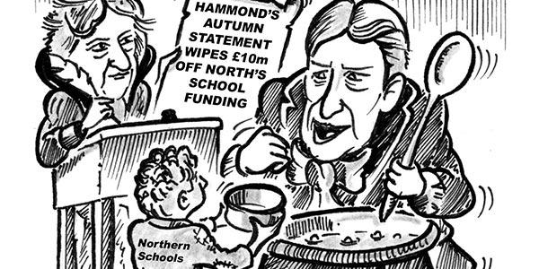 YEN Cartoon: Hammond's Autumn Statement Wipes £10m Off North's School Funding