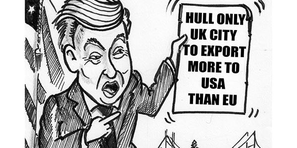YEN Cartoon: Hull Only UK City To Export More To USA Than EU