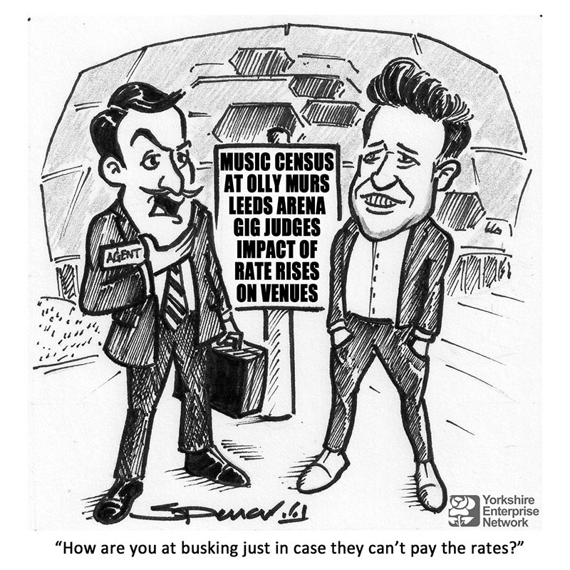 YEN Cartoon: Music Census At Olly Murs Leeds Arena Gig Judges Impact Of Rates Rises On Venues