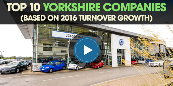 YEN Top 10: Yorkshire Companies (Based on 2016 Turnover Growth)