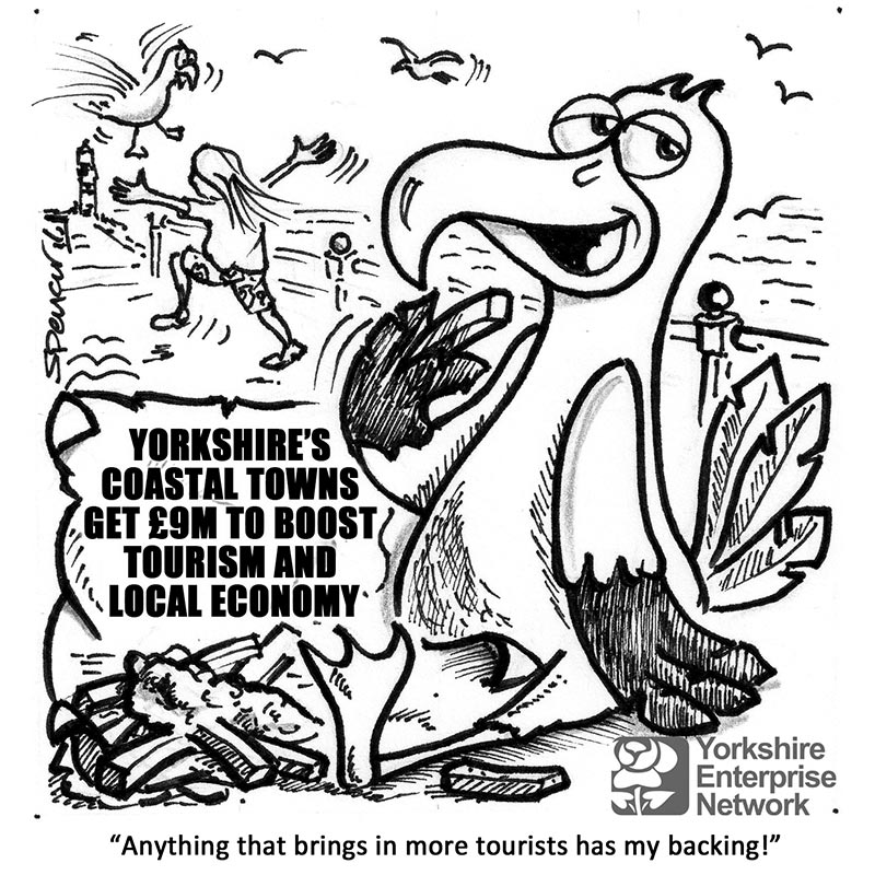 YEN Cartoon: Yorkshire's Coastal Towns Get £9 Million To Boost Tourism And Local Economy