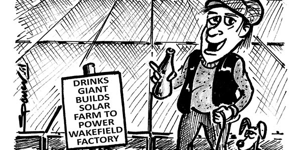 YEN Cartoon: Drinks Giant Builds Solar Farm To Power Wakefield Factory