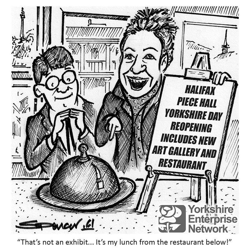 YEN Cartoon: Halifax Piece Hall Yorkshire Day Reopening Includes New Art Gallery And Restaurant