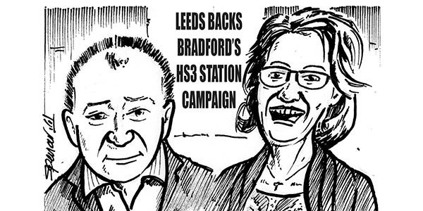YEN Cartoon: Leeds Backs Bradford's HS3 Station Campaign