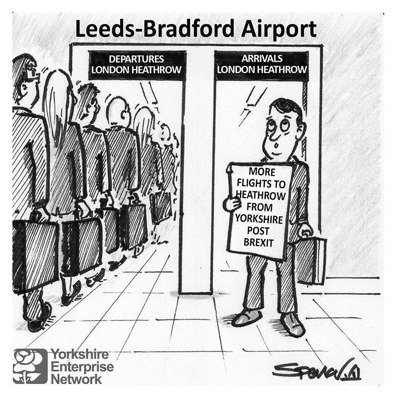 YEN Cartoon: More Flights To Heathrow From Yorkshire Post Brexit