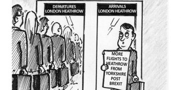 YEN Cartoon: More Flights To Heathrow From Yorkshire Post Brexit