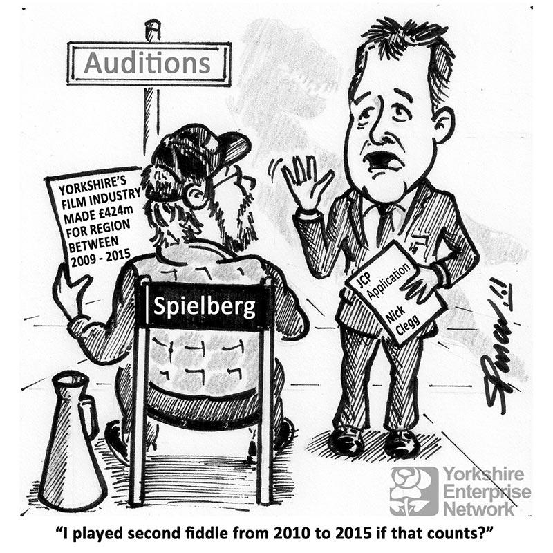YEN Cartoon: Yorkshire's Film Industry Made £424m For Region Between 2009-2015