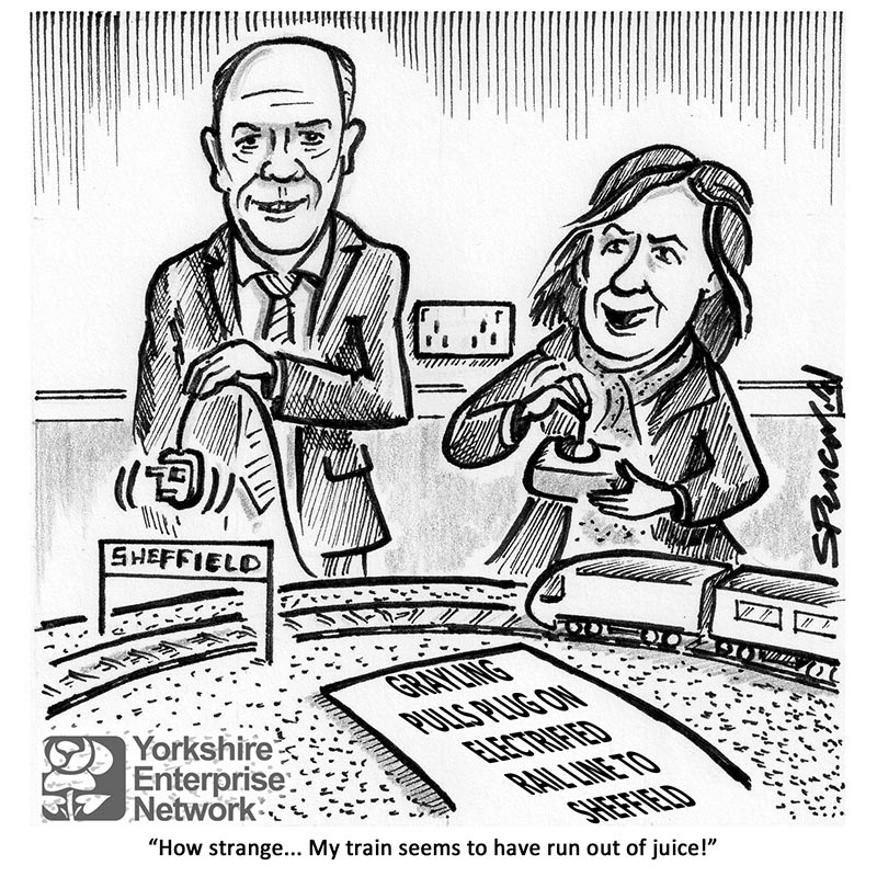YEN Cartoon: Grayling Pulls Plug On Electrified Rail Line To Sheffield