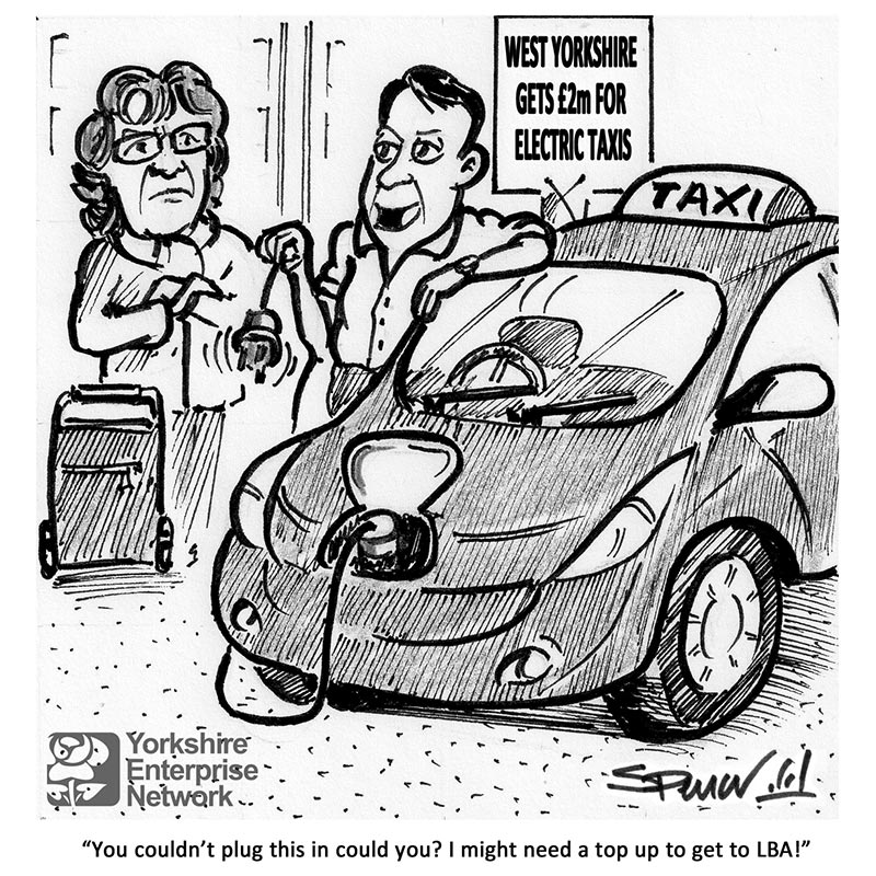 YEN Cartoon: West Yorkshire Gets £2 Million For Electric Taxis