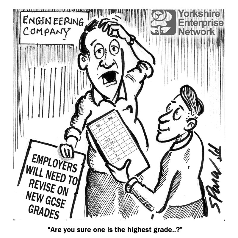 YEN Cartoon: Employers Will Need To Revise On New GCSE Grades