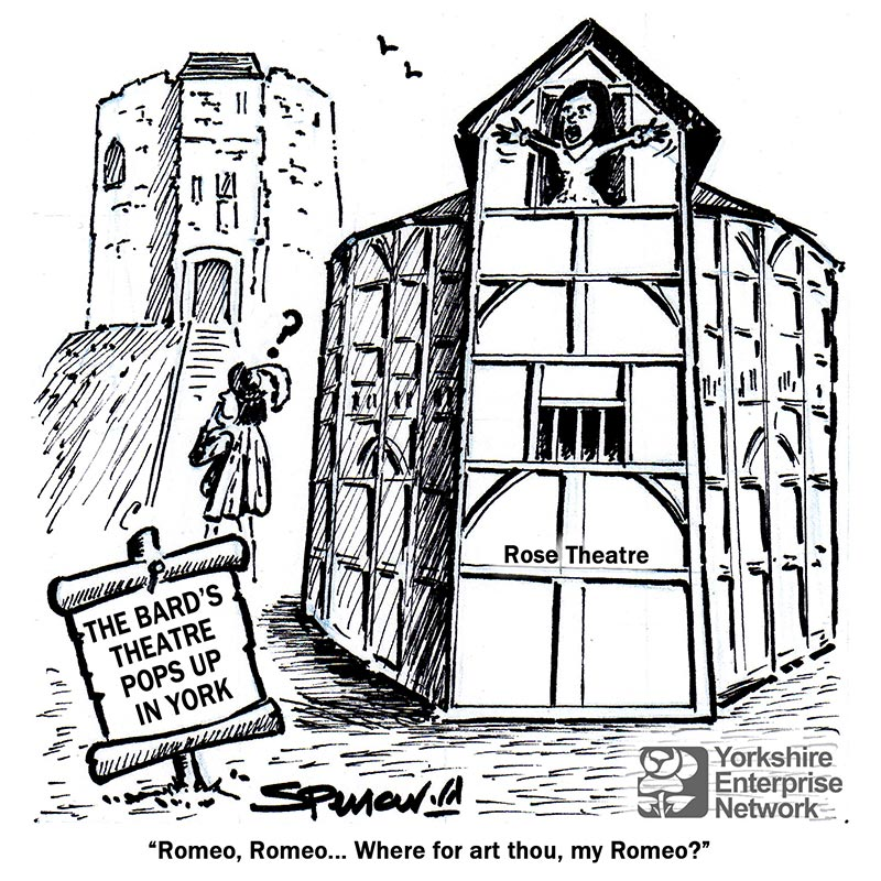 YEN Cartoon: The Bard's Rose Theatre Pops Up In York