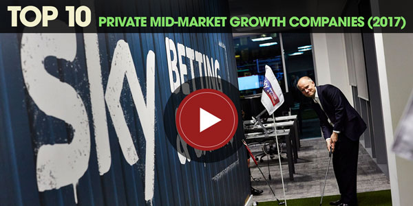 YEN Top 10: Private Mid-Market Growth Companies (2017)