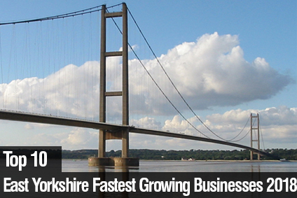 Top 10 East Yorkshire's Fastest Growing Businesses 2018