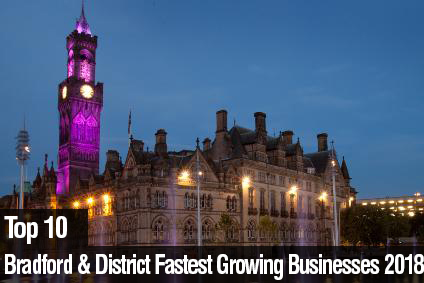 Top 10 Bradford & District Fastest Growing Businesses 2018